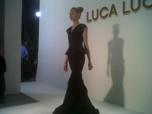 Final gown at Luca Luca NYFW