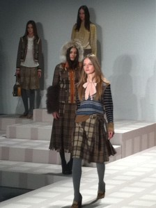 Plaid at the Tory Burch Presentation